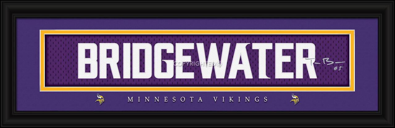 Minnesota Vikings Print 8x24 Signature Style Teddy Bridgewater