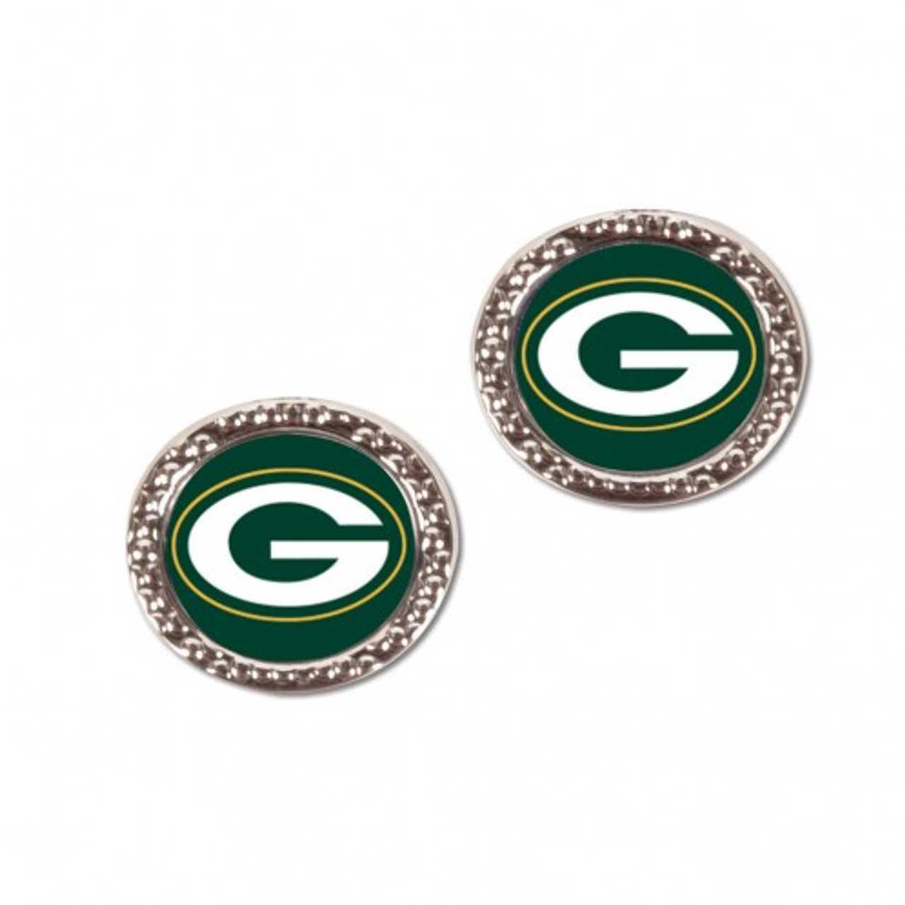 Green Bay Packers Earrings Post Style - Special Order
