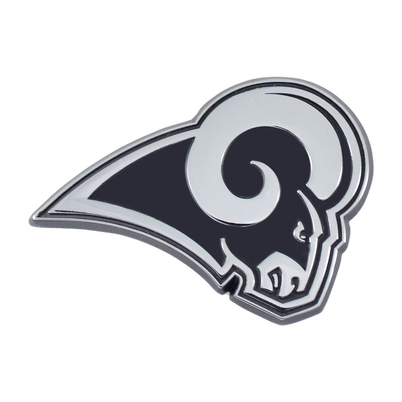 Los Angeles Rams Auto Emblem Premium Metal Chrome