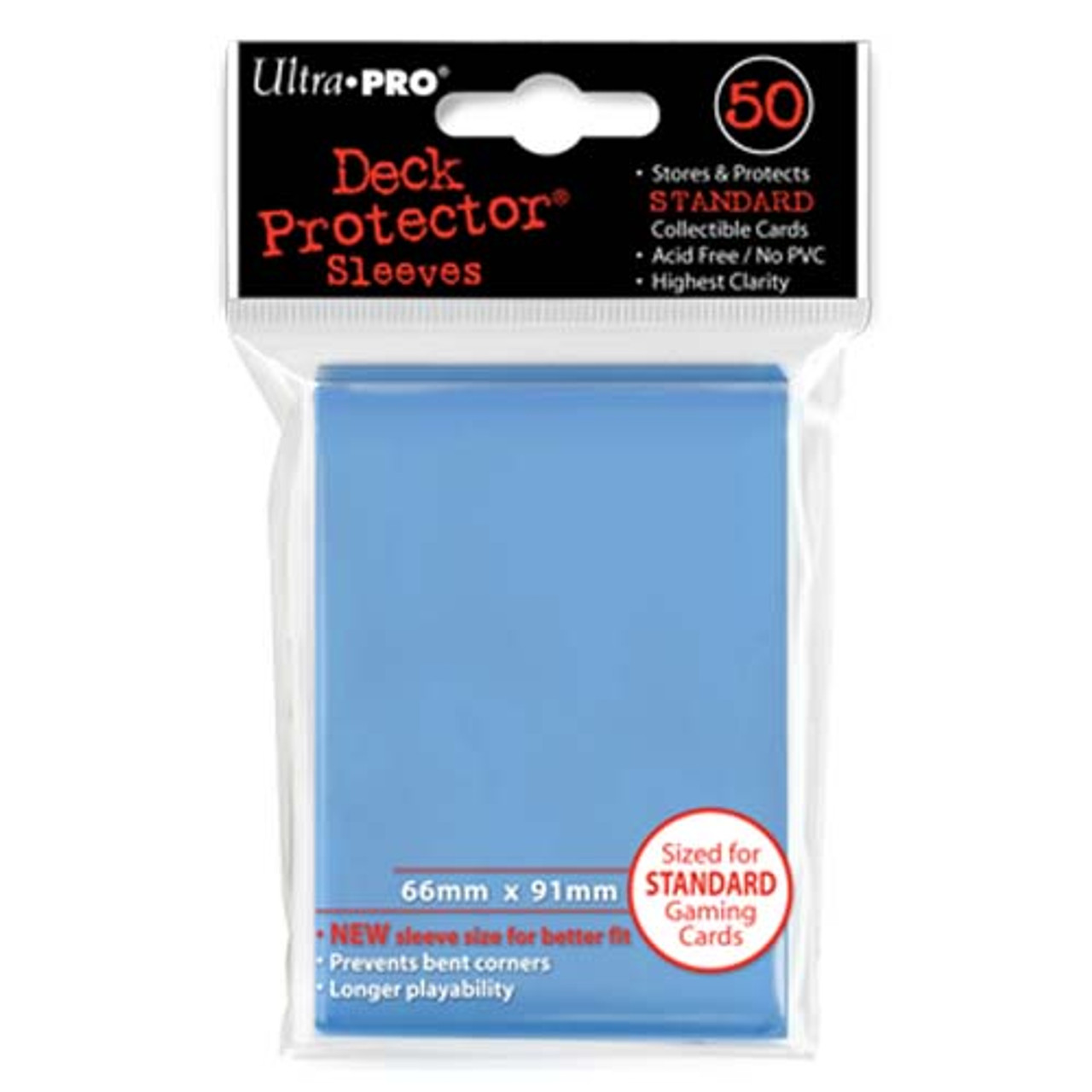 Deck Protectors - Solid - Light Blue (One Pack of 50)