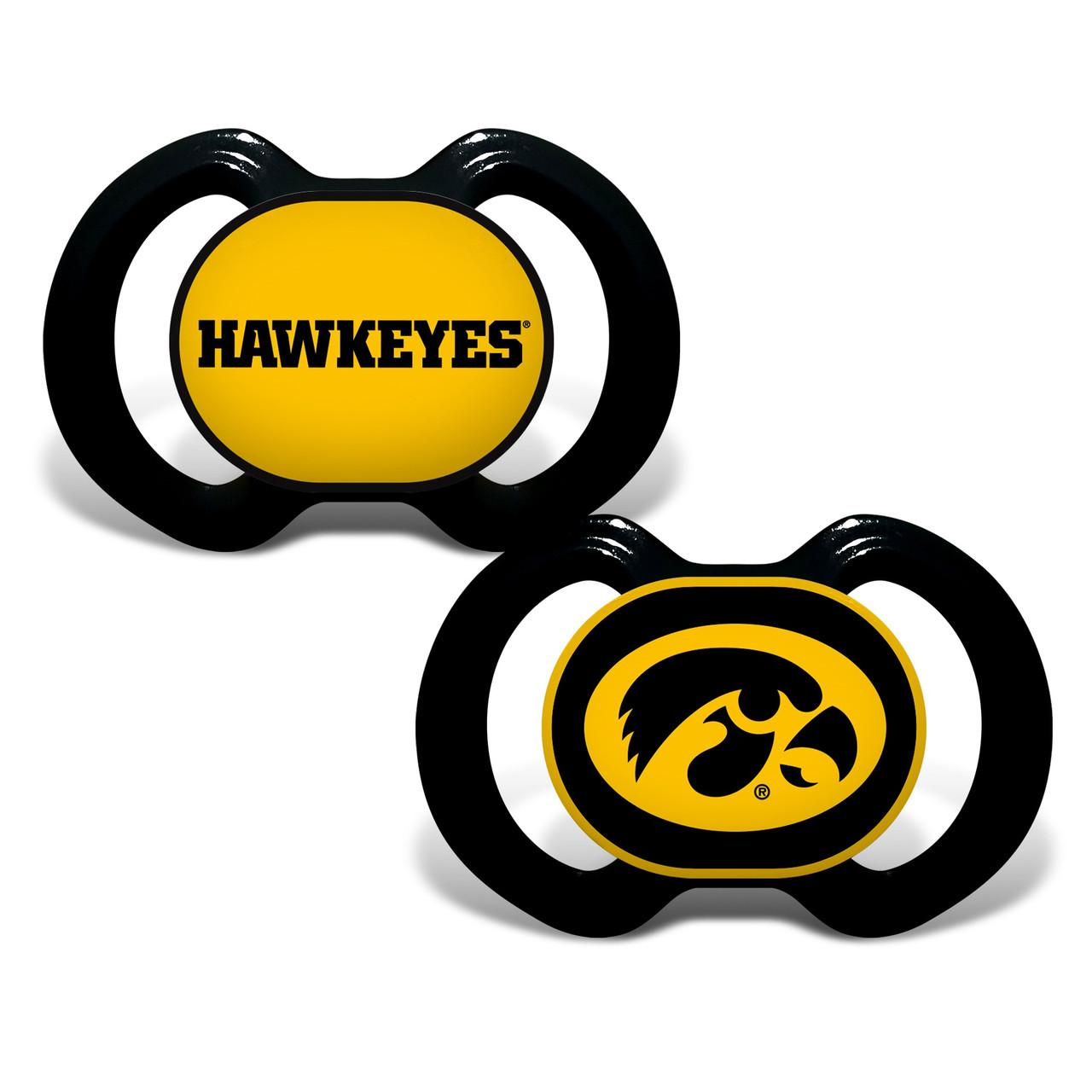 Iowa Hawkeyes Pacifier 2 Pack