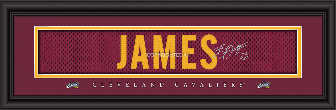 Cleveland Cavaliers Print 8x24 Signature Style LeBron James