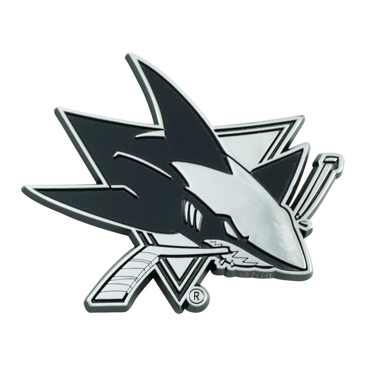 San Jose Sharks Auto Emblem Premium Metal Chrome Special Order