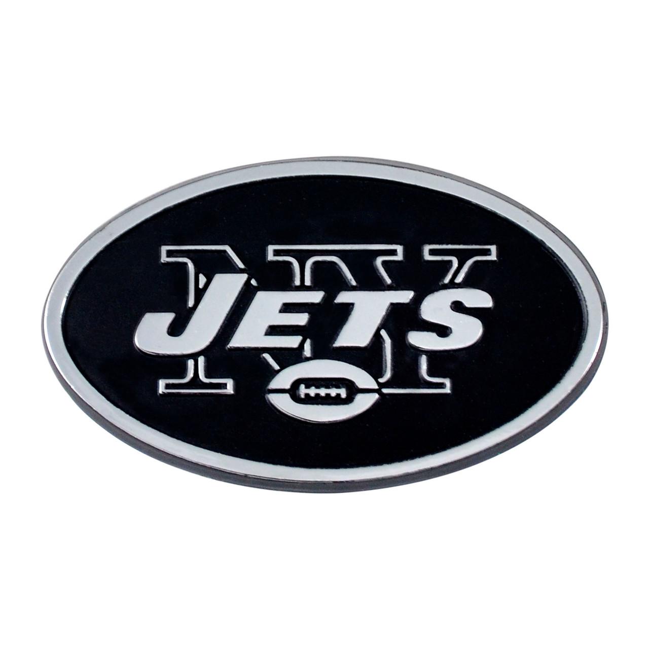 New York Jets Auto Emblem Premium Metal Chrome