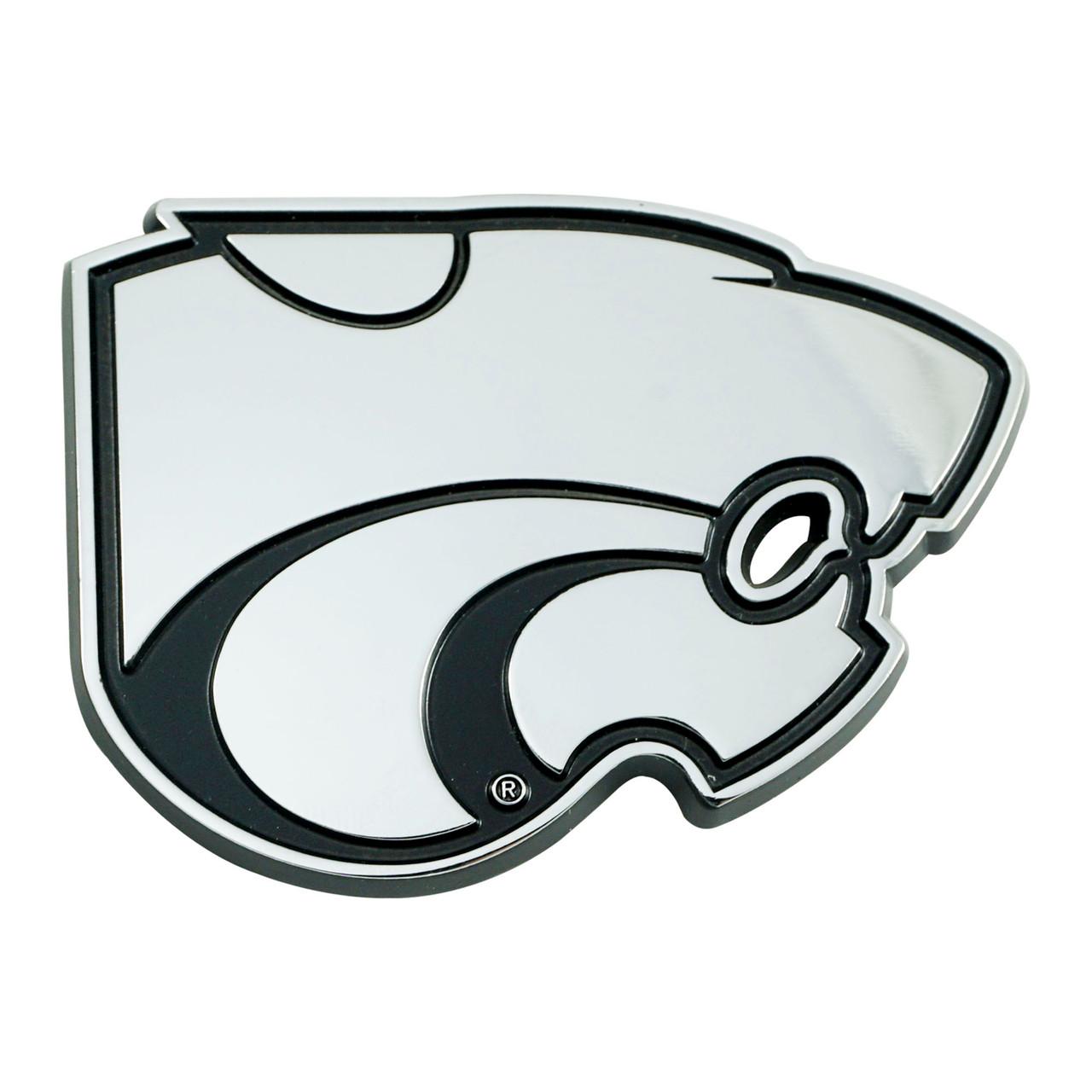 Kansas State Wildcats Auto Emblem Premium Metal Chrome