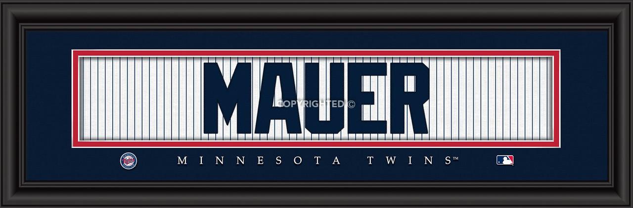 Minnesota Twins Print 8x24 Signature Style Joe Mauer
