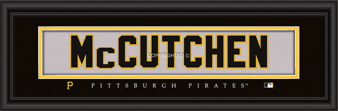 Pittsburgh Pirates Print 8x24 Signature Style Andrew McCutchen