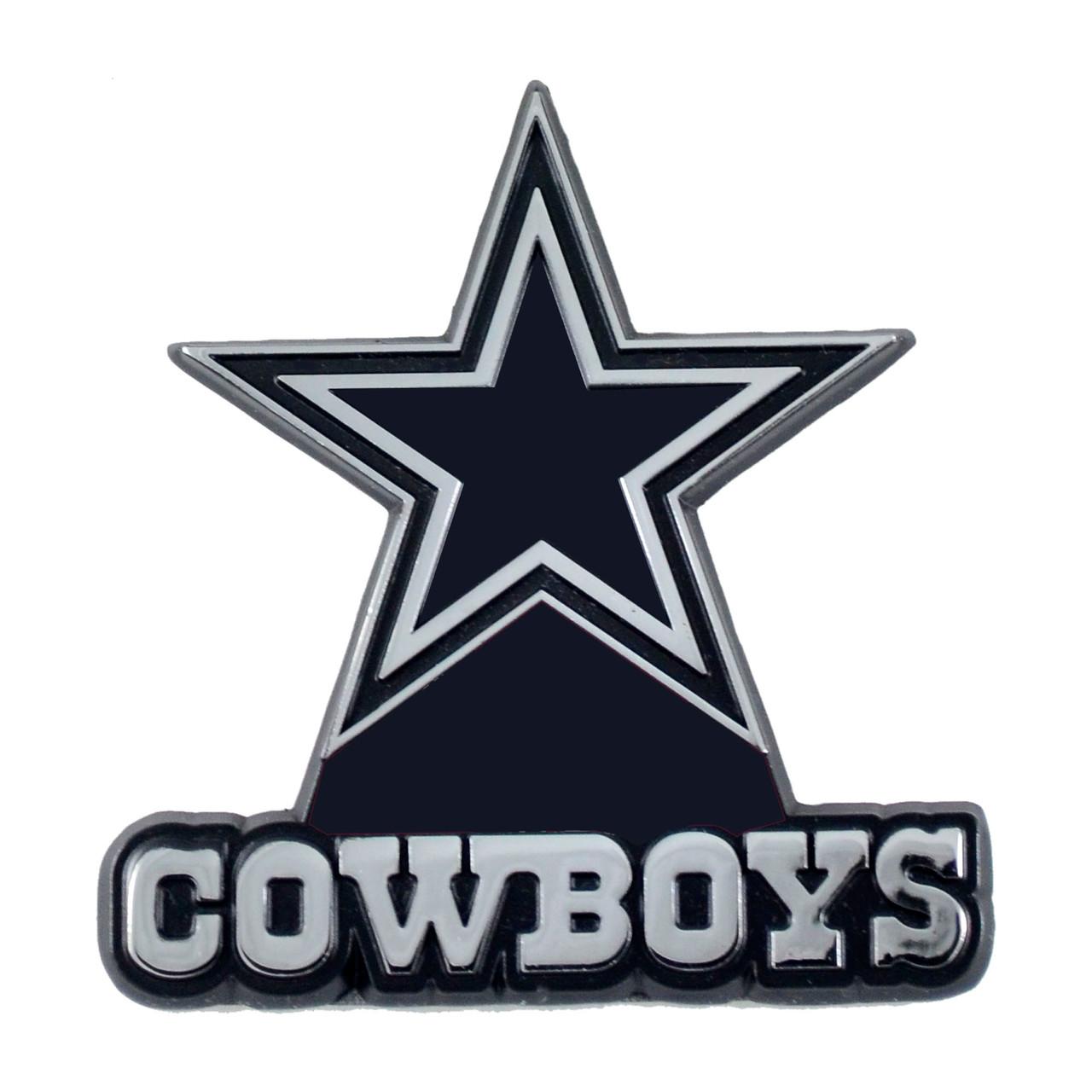 Dallas Cowboys Auto Emblem Premium Metal Chrome