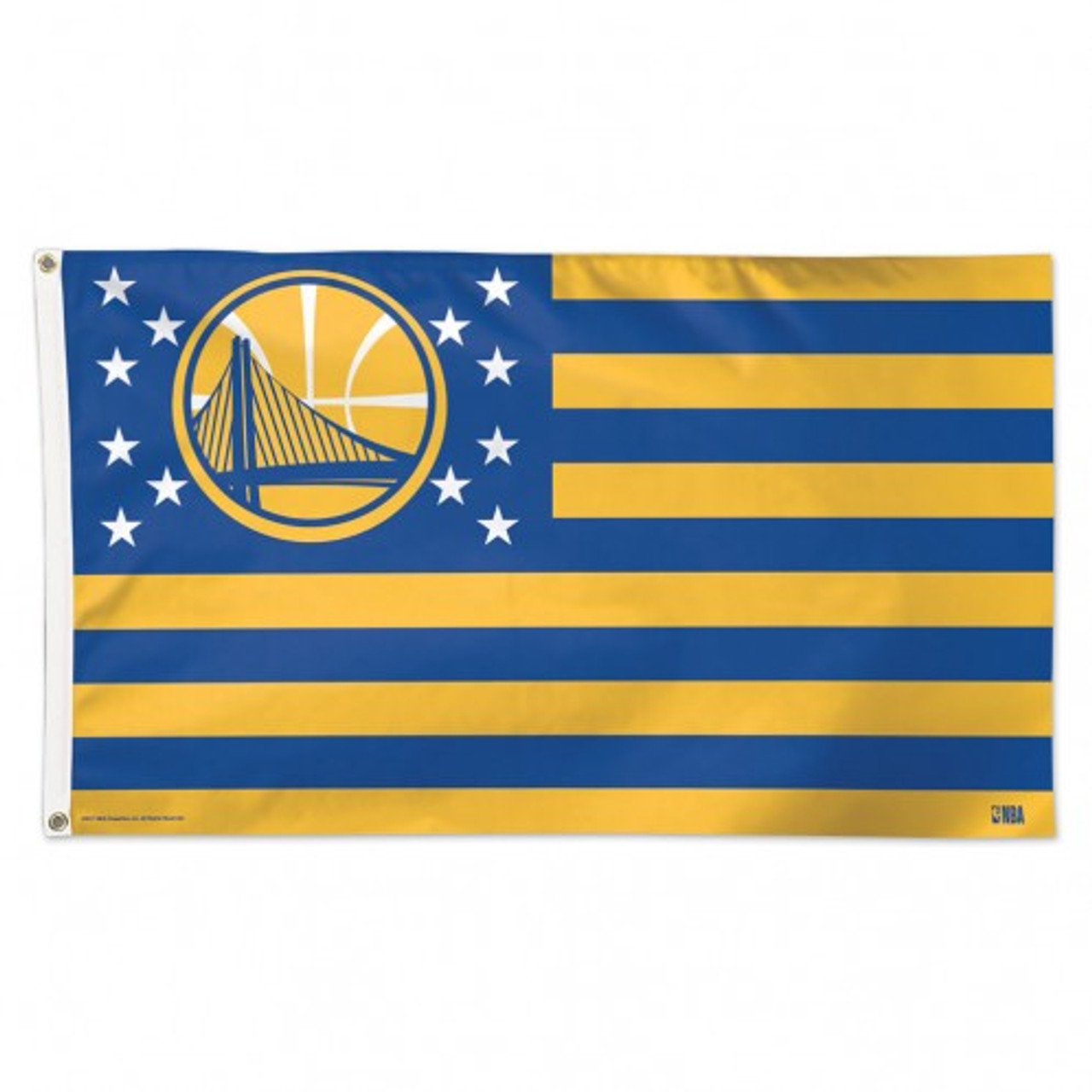 Golden State Warriors Flag 3x5 Deluxe Style Stars and Stripes Design - Special Order