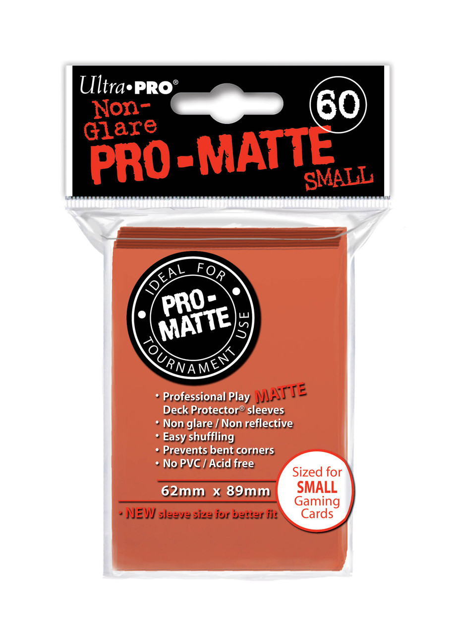 Deck Protectors - Pro-Matte - Small Size - Peach (One Pack of 60)