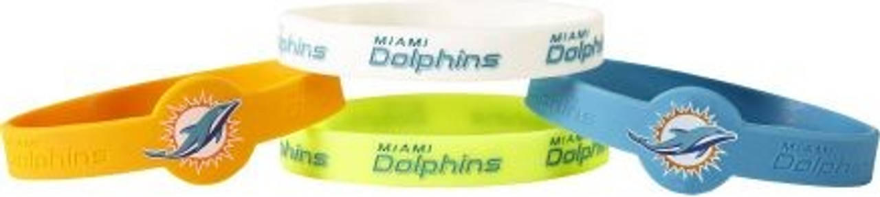 Miami Dolphins Bracelets 4 Pack Silicone
