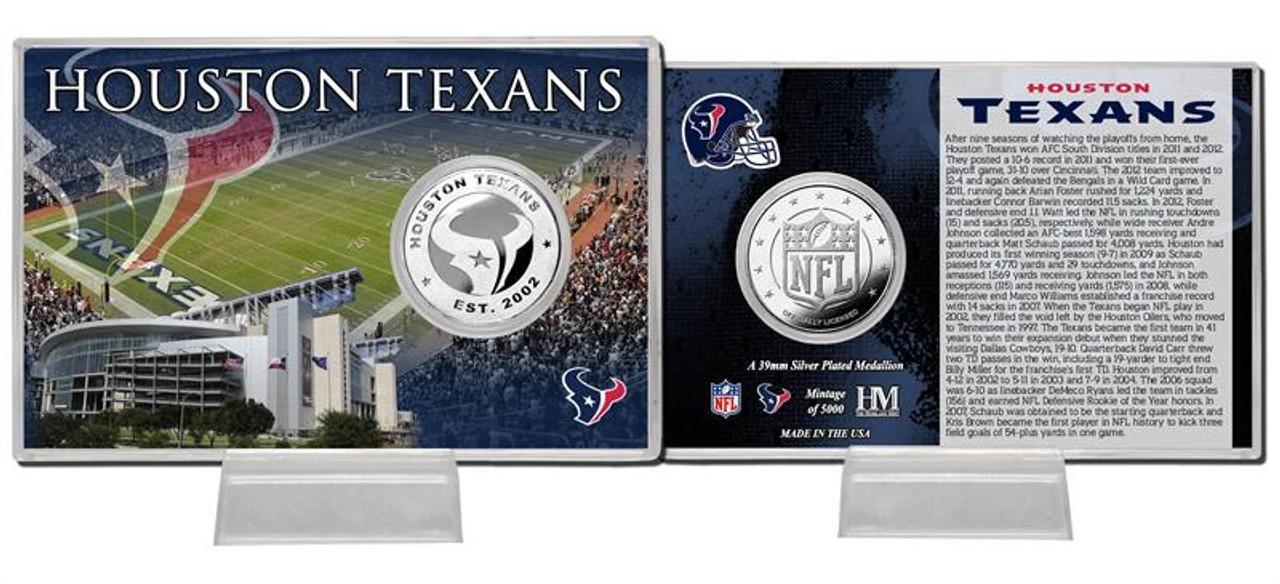 Houston Texans Silver Coin Card