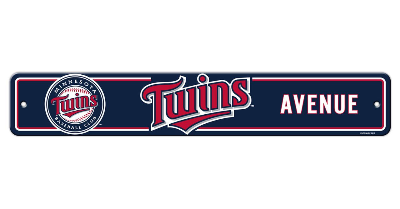 Minnesota Twins Sign 4x24 Plastic Street Style Alternate Special Order