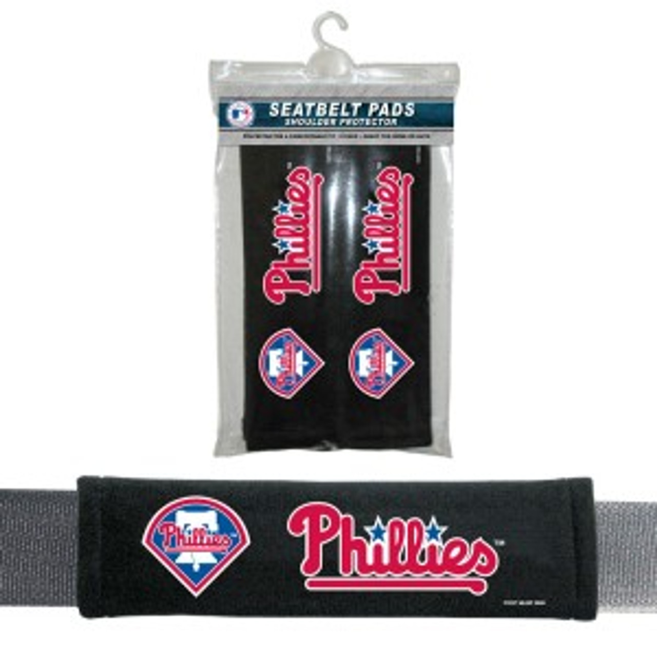 Philadelphia Phillies Velour Seat Belt Pads - Special Order