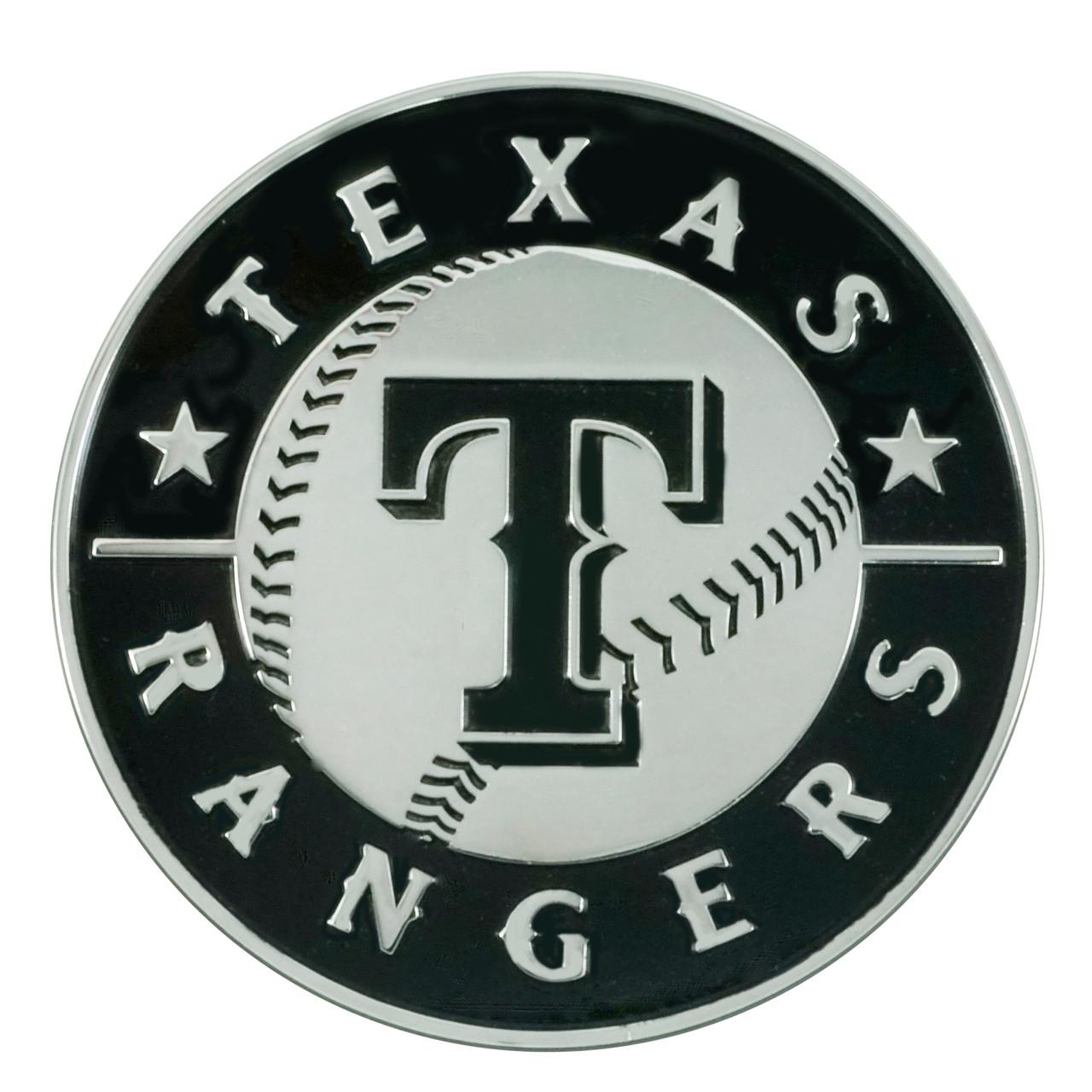 Texas Rangers Auto Emblem Premium Metal Chrome Special Order