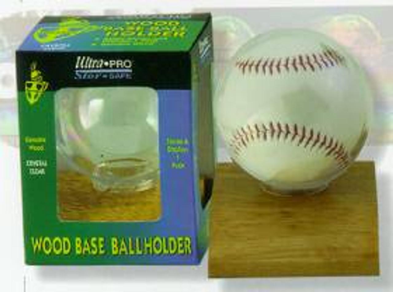 Baseball Holder - Wood Base - Special Order