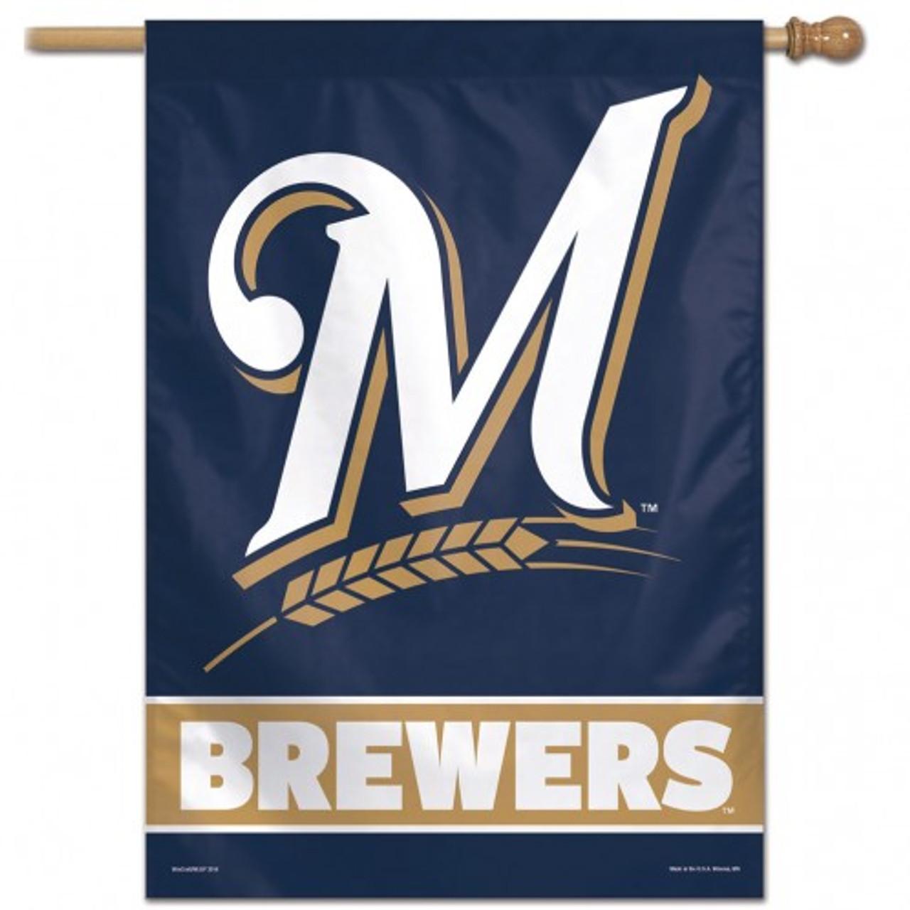Milwaukee Brewers Banner 28x40 Vertical - Special Order