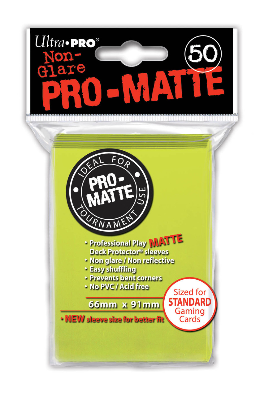 Deck Protectors - Pro-Matte - Bright Yellow (One Pack of 50)