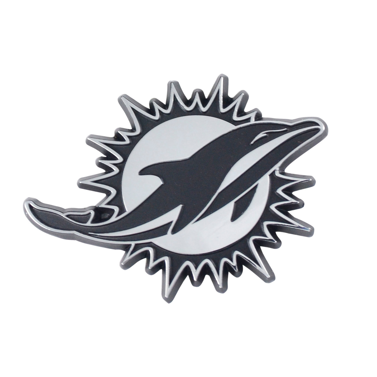 Miami Dolphins Auto Emblem Premium Metal Chrome