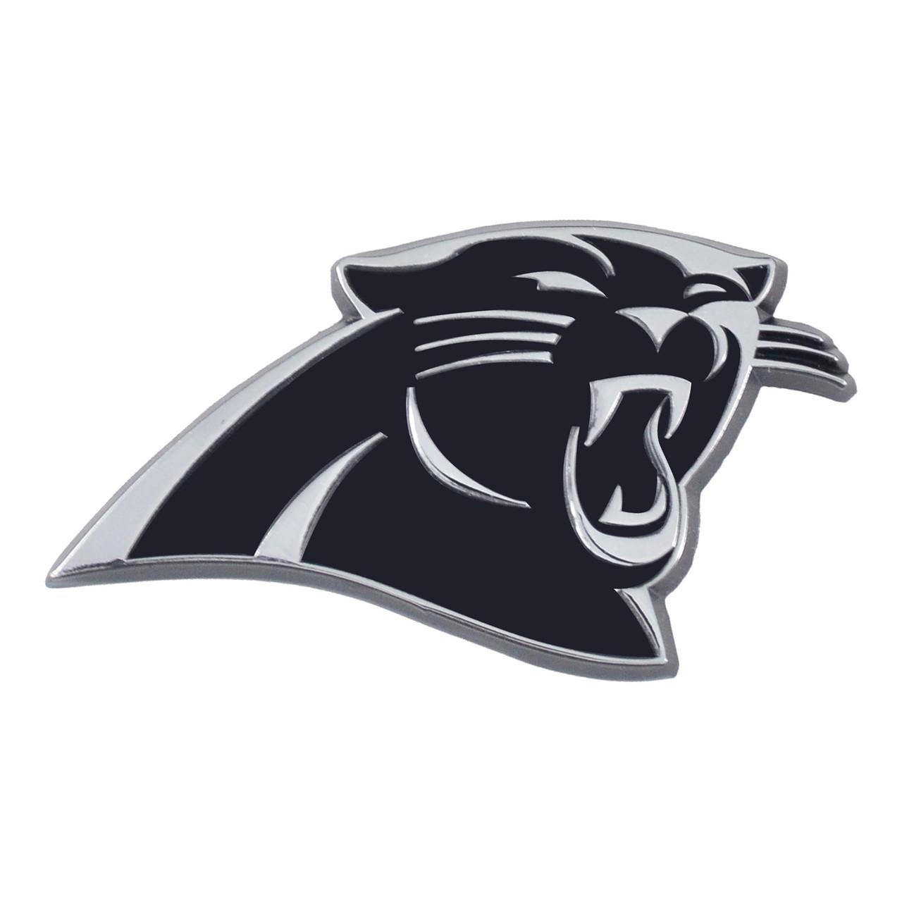 Carolina Panthers Auto Emblem Premium Metal Chrome