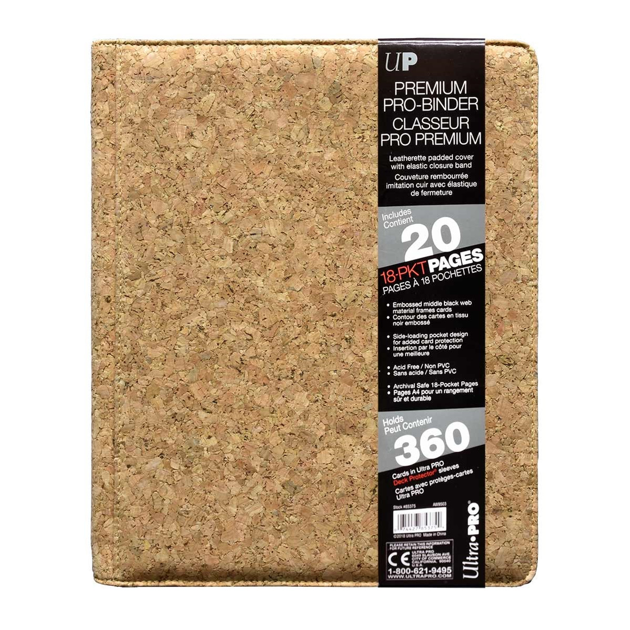 Ultra Pro 9 Premium Pro Binder- Cork - Special Order