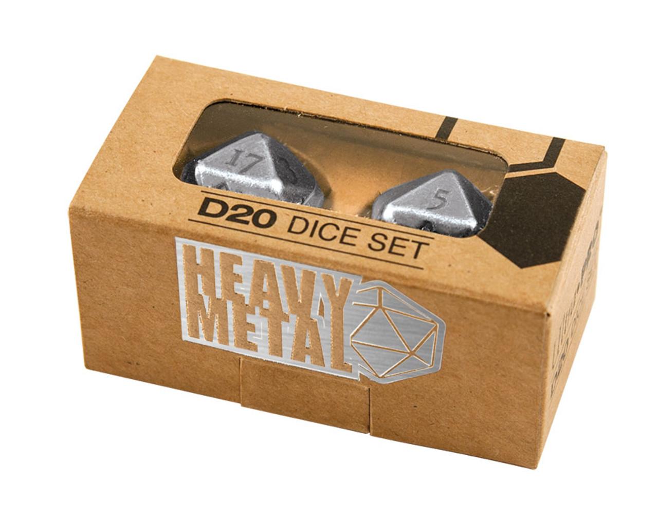Ultra Pro Dice - D20 2 Dice Set Chrome - Special Order