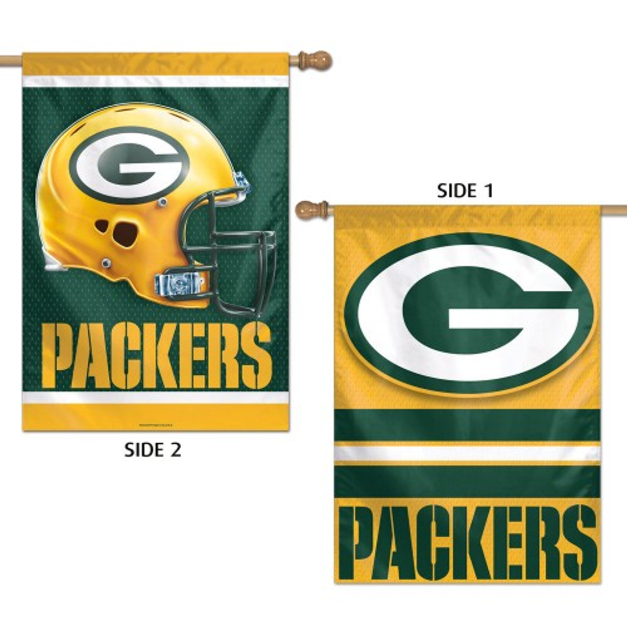 Green Bay Packers Banner 28x40 Vertical Premium 2 Sided Special Order