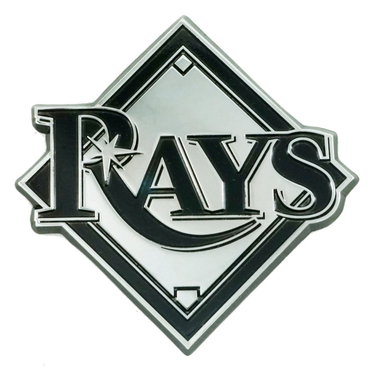 Tampa Bay Rays Auto Emblem Premium Metal Chrome Special Order