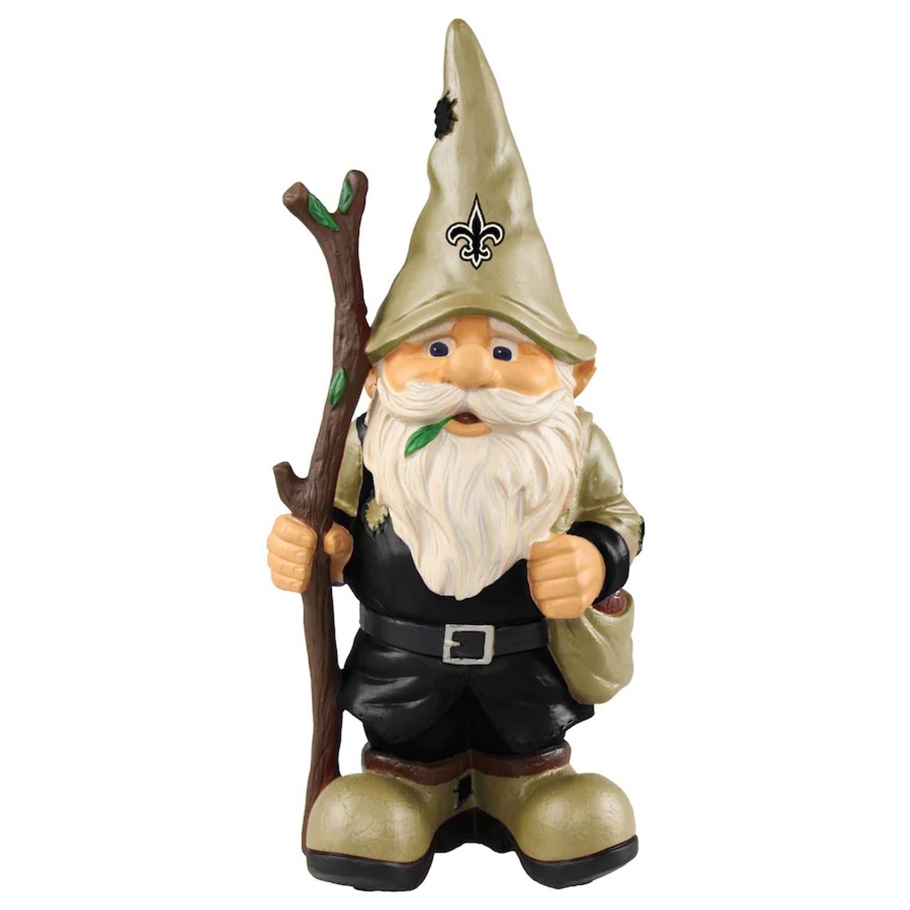 New Orleans Saints Gnome Holding Stick
