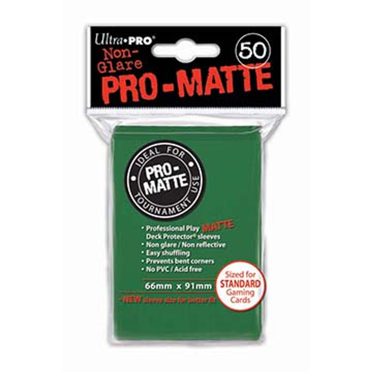 Deck Protectors - Pro-Matte - Green (One Pack of 50)