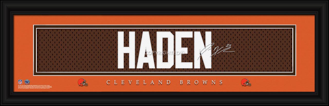 Cleveland Browns Print 8x24 Signature Style Joe Haden