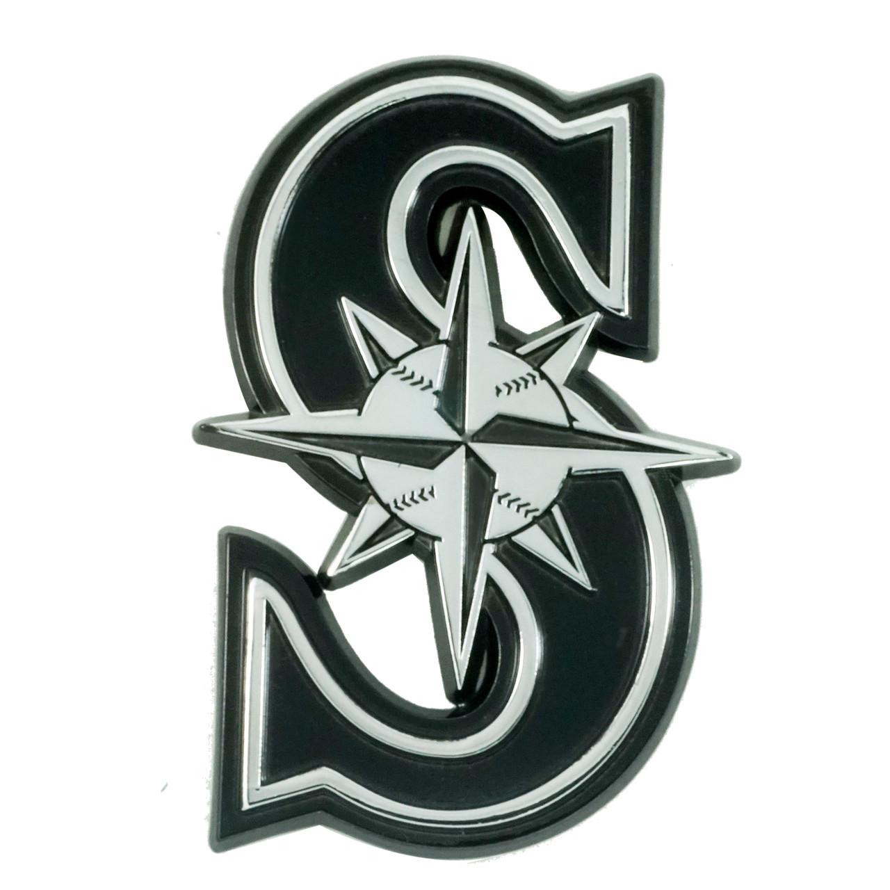 Seattle Mariners Auto Emblem Premium Metal Chrome Special Order