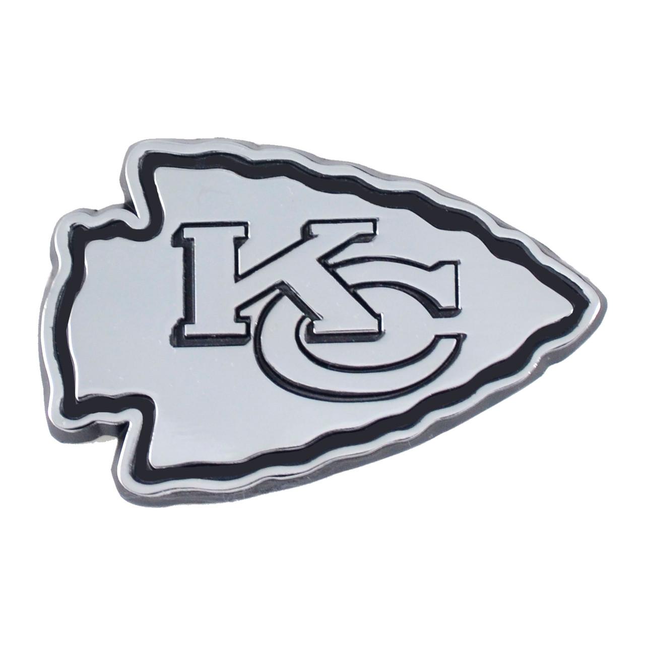 Kansas City Chiefs Auto Emblem Premium Metal Chrome
