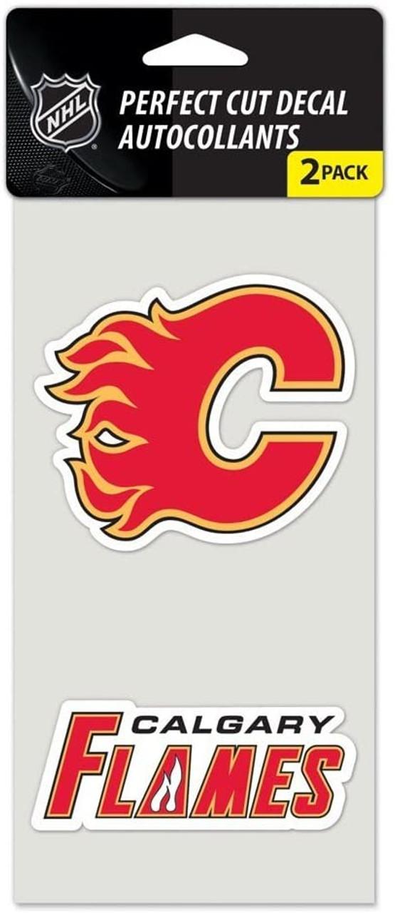 Calgary Flames Set Of 2 Die Cut Decals Special Order Caseys Distributing