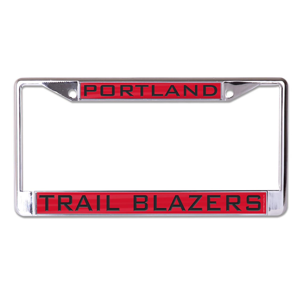 NBA Rico Industries  Laser Cut Inlaid Standard Chrome License Plate Frame Portland Trail Blazers
