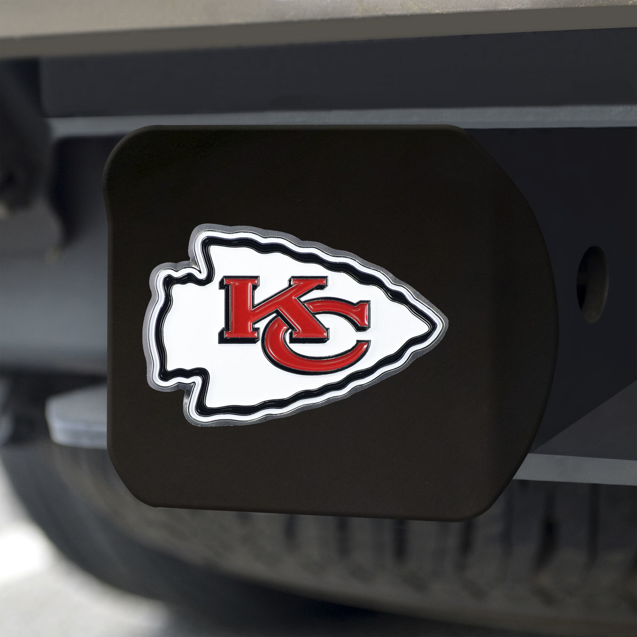 NFL Kansas City Chiefs Helmet Trailer Hitch Cover Great American Products 72525