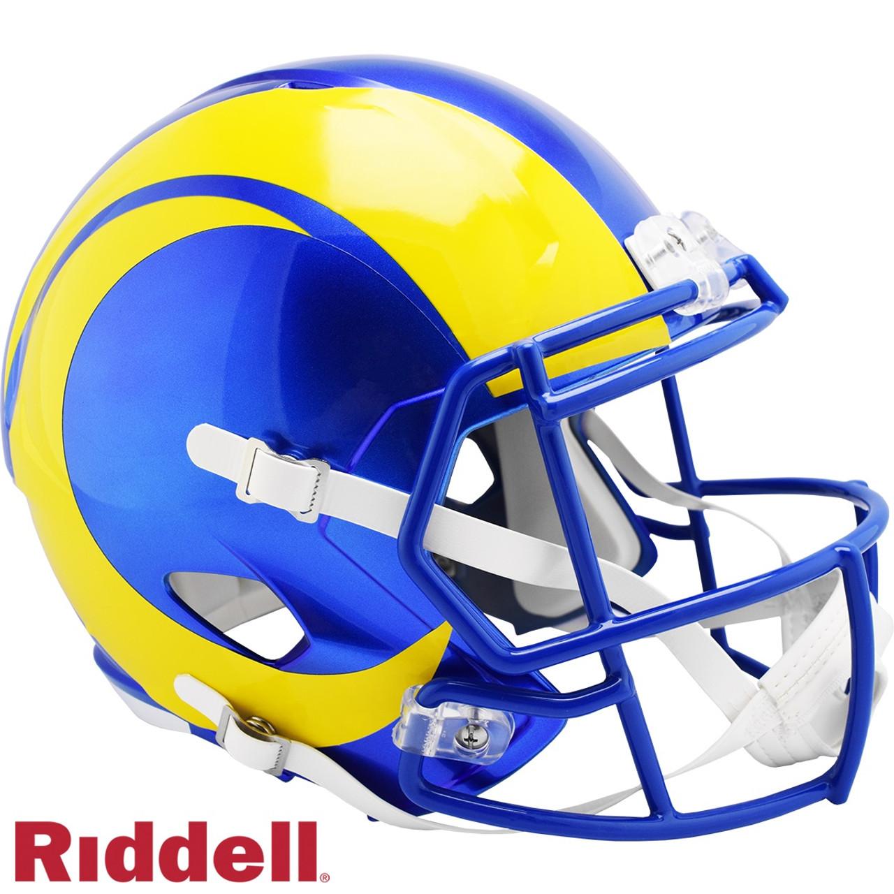 Los Angeles Rams Helmet Riddell Replica Full Size Speed Style 2020