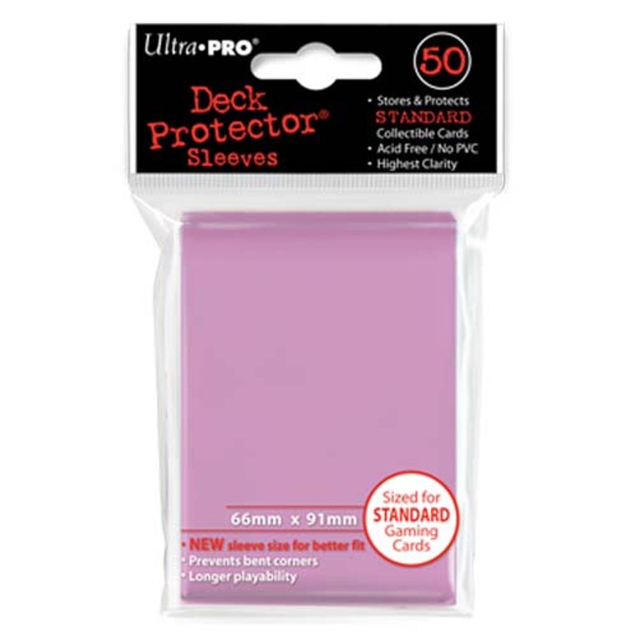 Deck Protectors - Solid - Pink (One Pack of 50)
