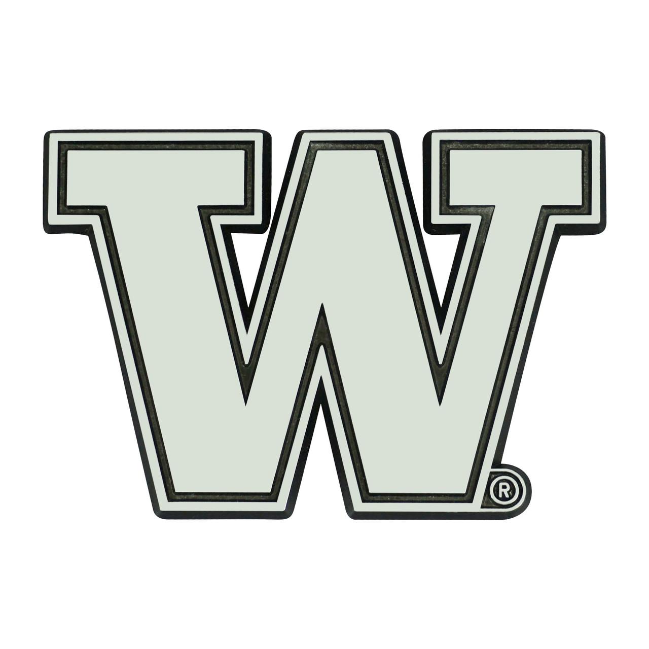 Washington Huskies Auto Emblem Premium Metal Chrome Special Order