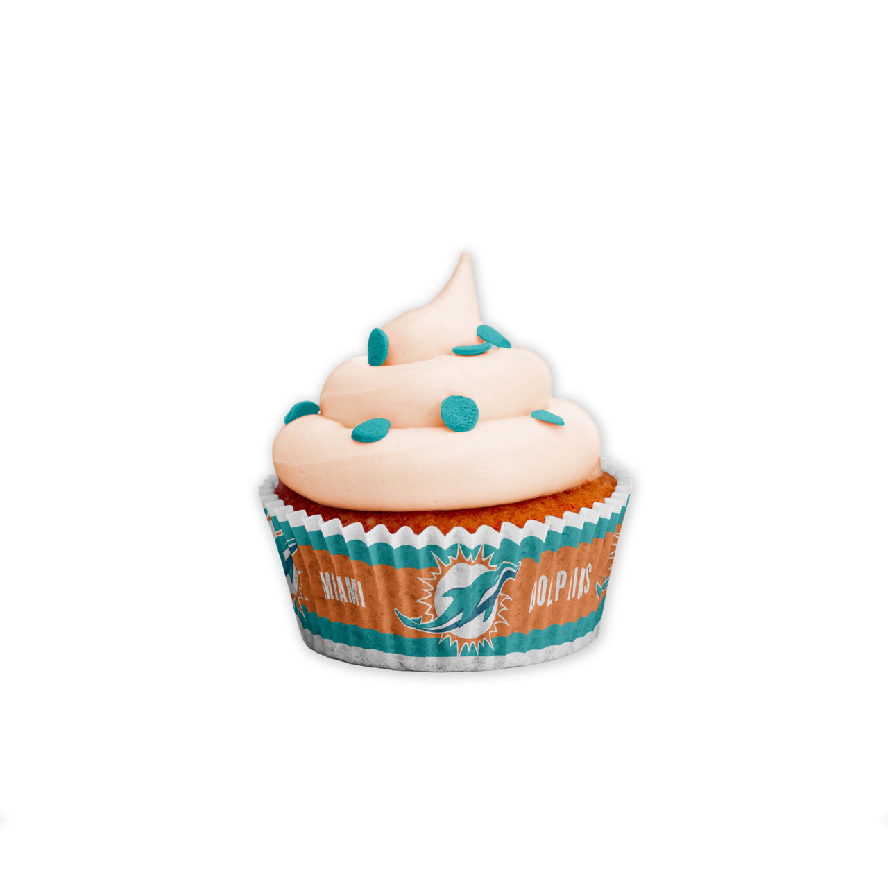 Miami Dolphins Baking Cups Large 50 Pack