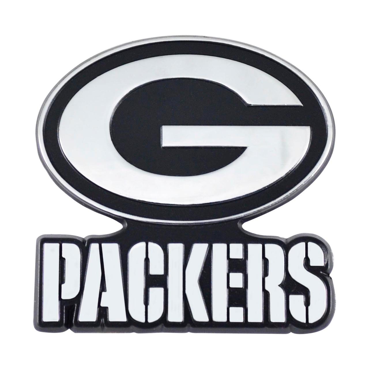 Green Bay Packers Auto Emblem Premium Metal Chrome
