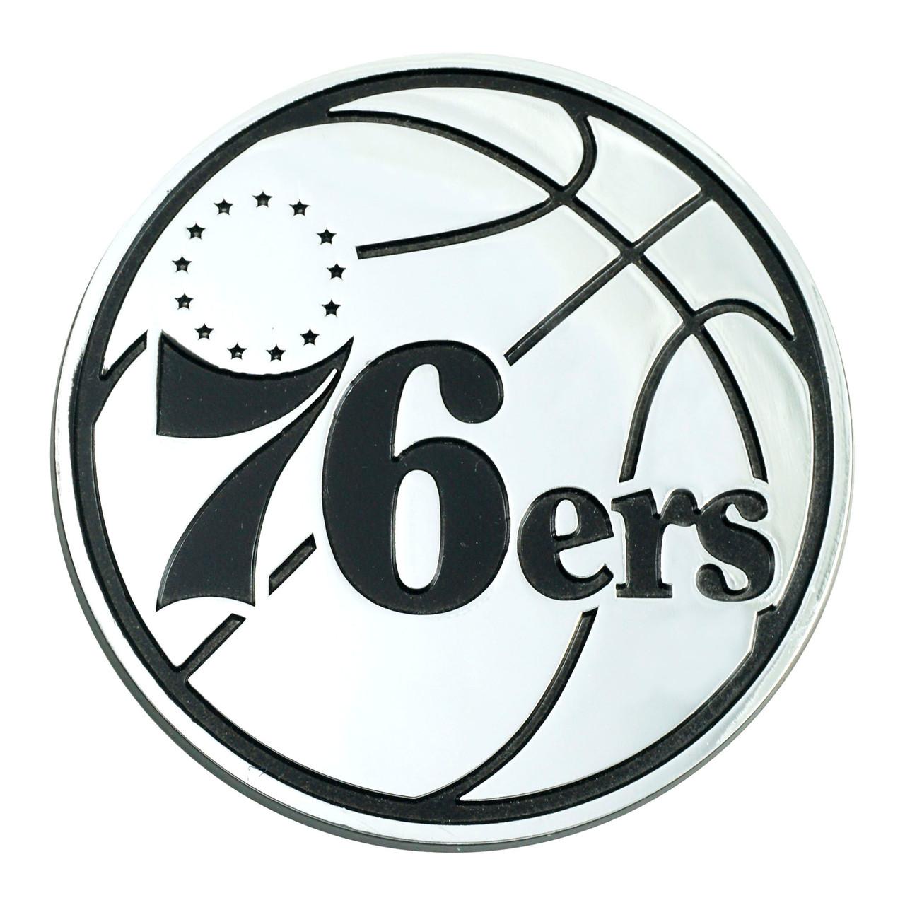 Philadelphia 76ers Auto Emblem Premium Metal Chrome Special Order