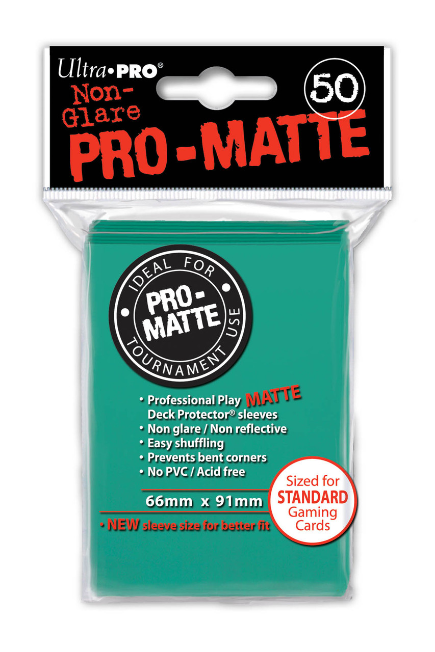 Deck Protectors - Pro-Matte - Aqua (One Pack of 50)