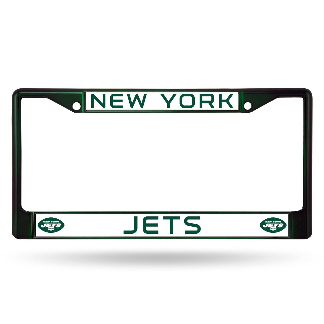 New York Jets License Plate Frame Metal Dark Green