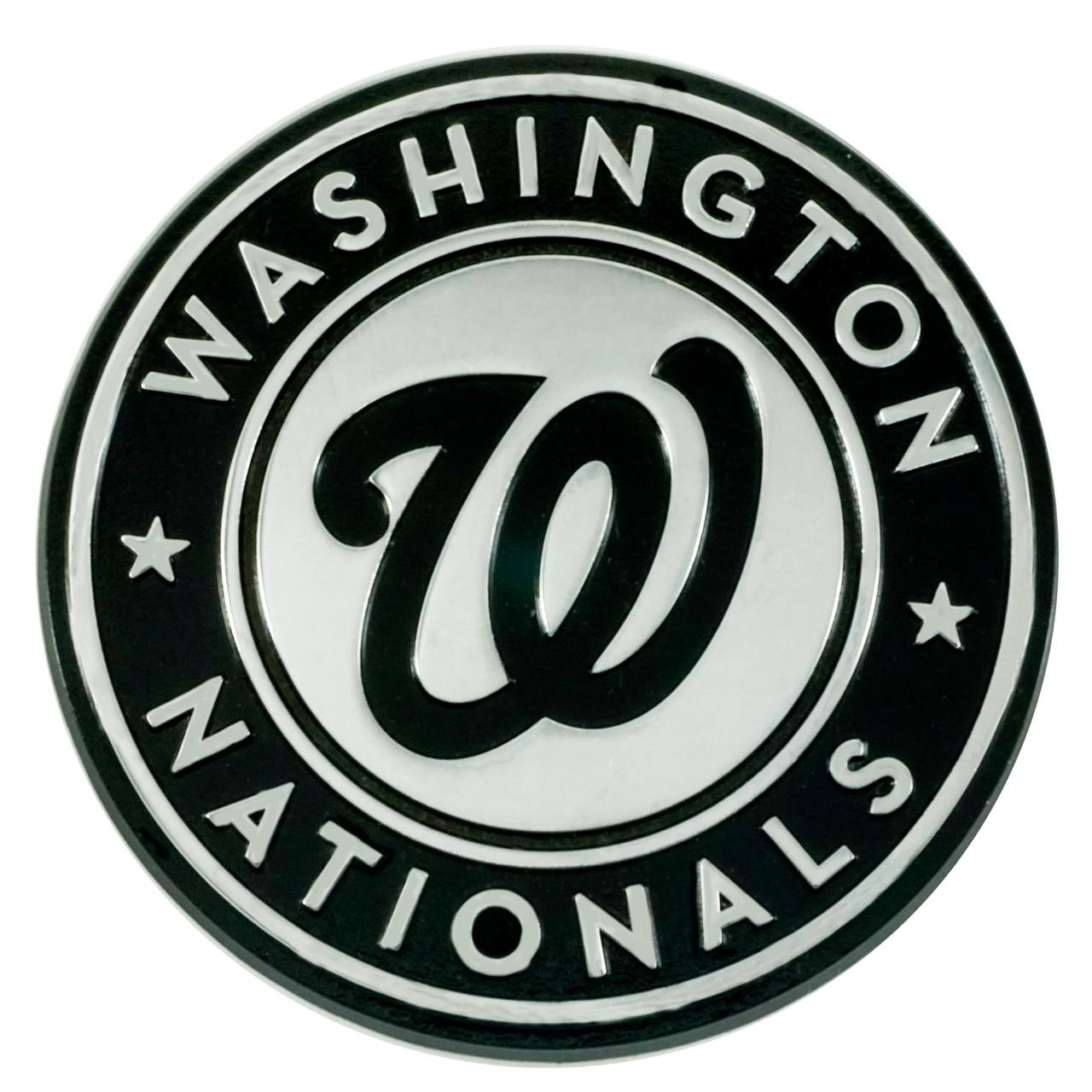 Washington Nationals Auto Emblem Premium Metal Chrome Special Order