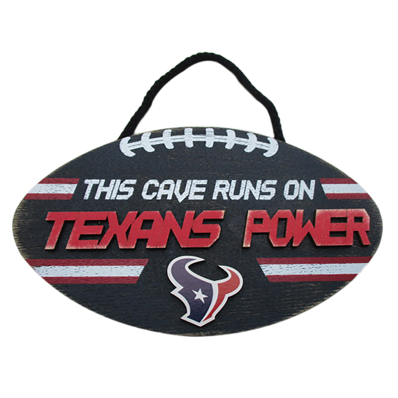 Houston Texans Sign Wood Football Power Design