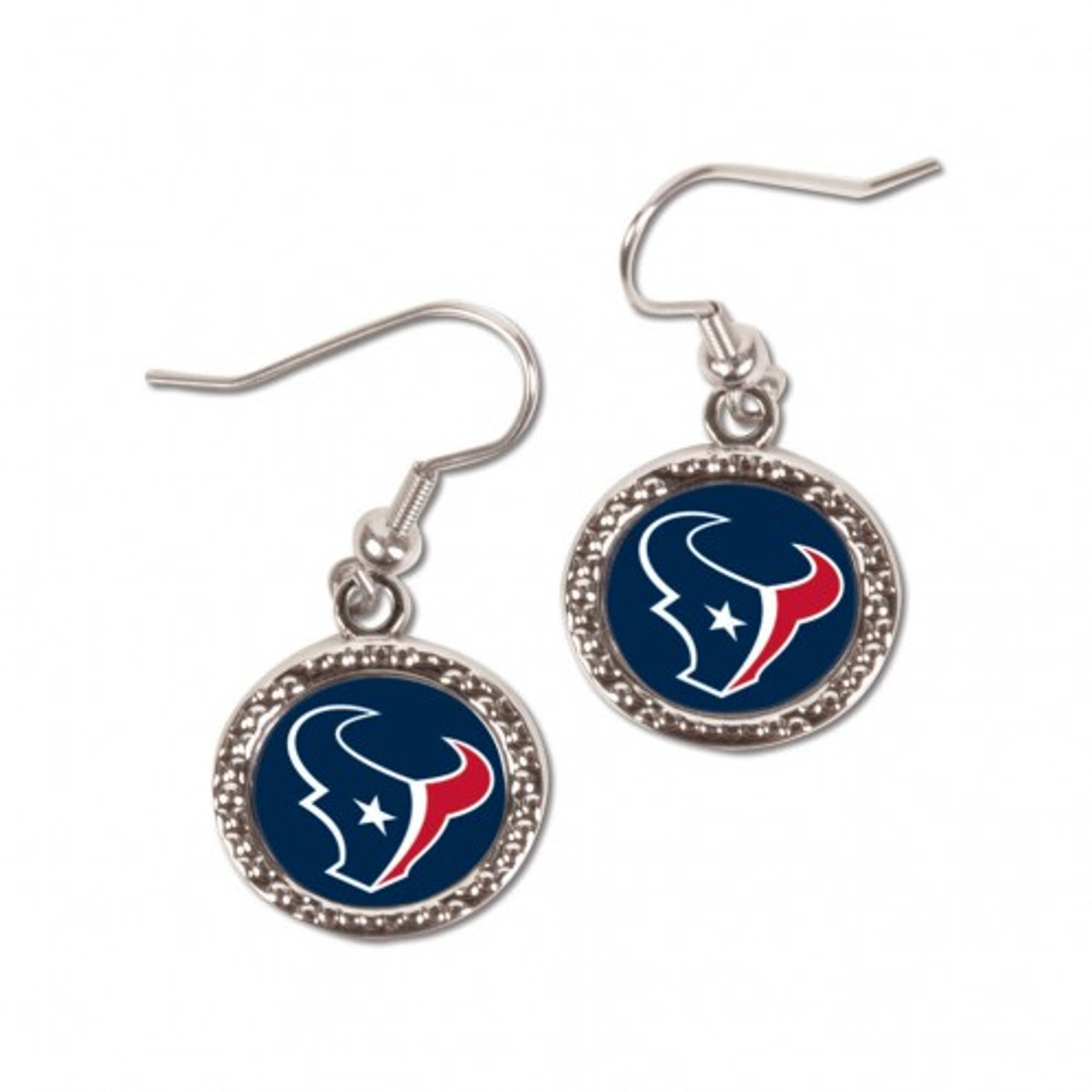 Houston Texans Earrings Round Style - Special Order