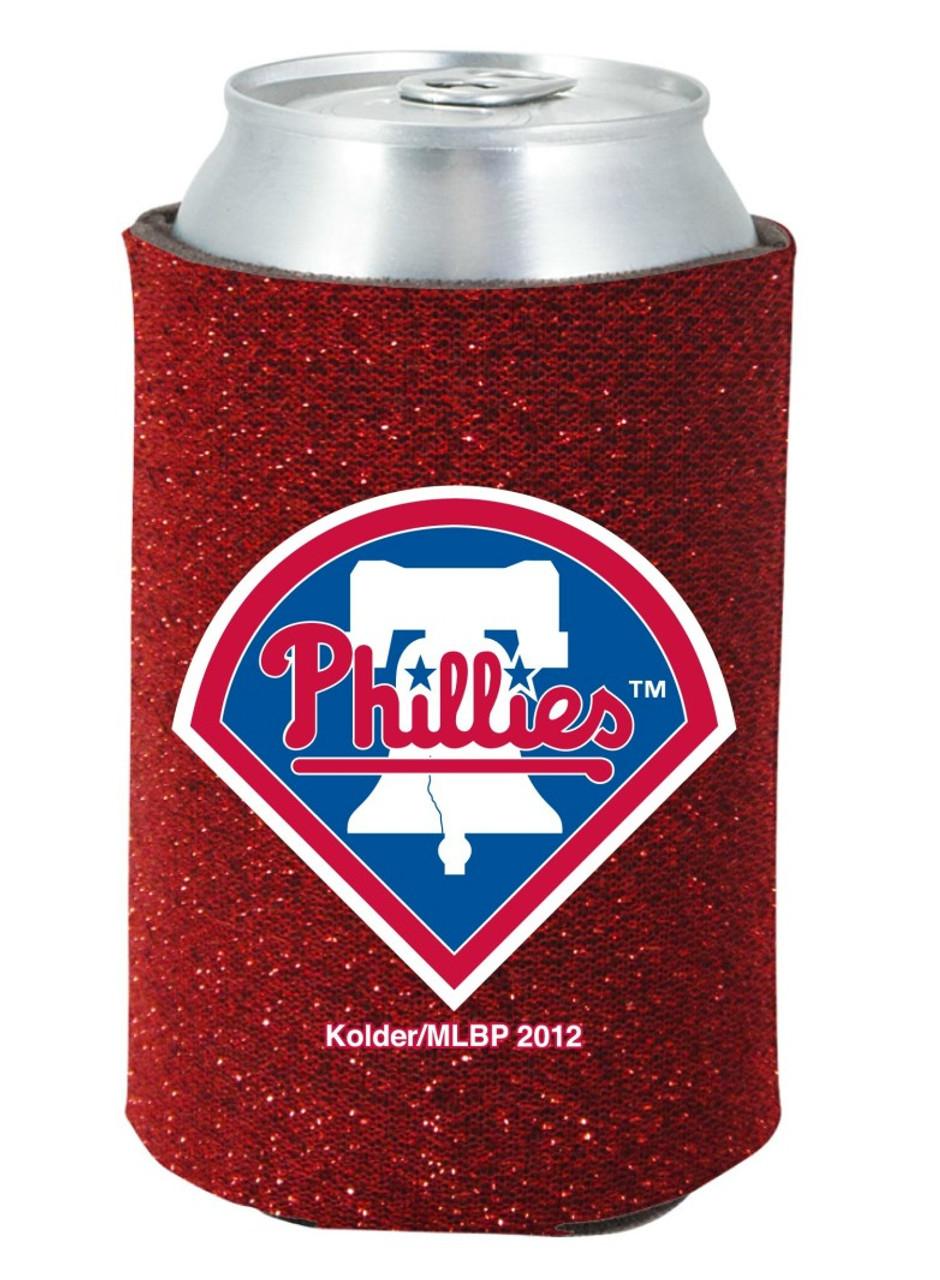 Philadelphia Phillies Kolder Kaddy Can Holder Glitter Red Special Order