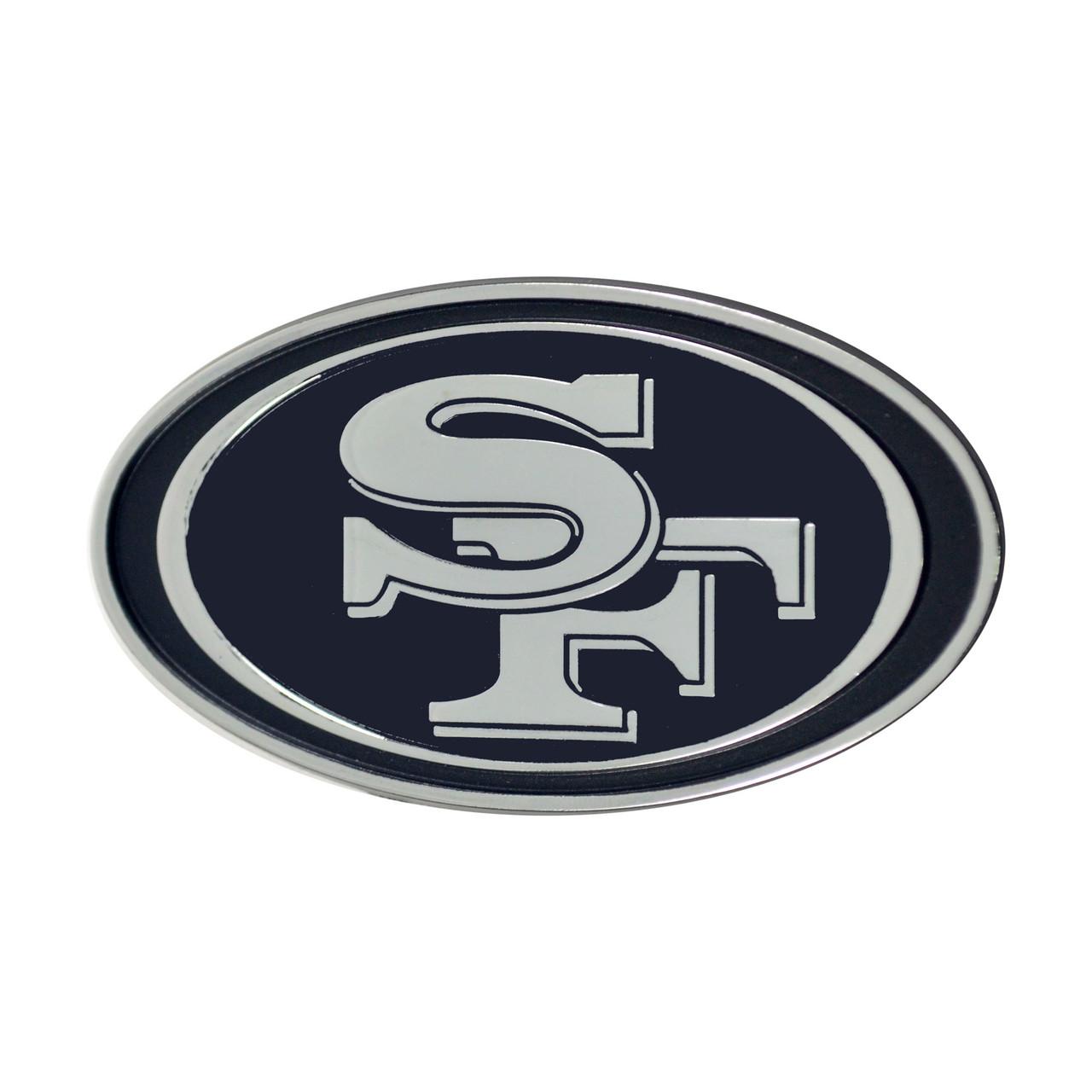 San Francisco 49ers Auto Emblem Premium Metal Chrome