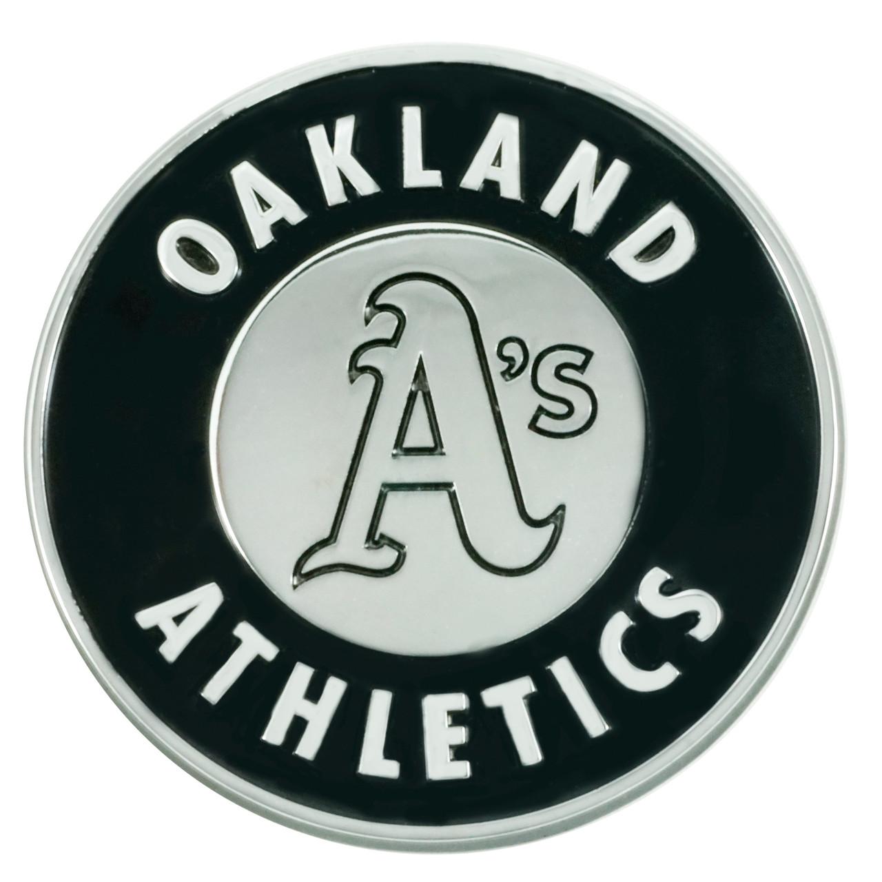 Oakland Athletics Auto Emblem Premium Metal Chrome Special Order